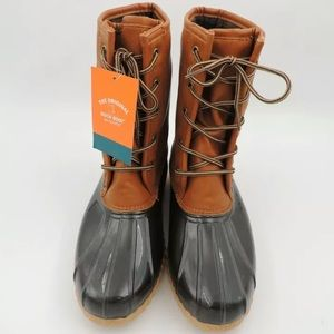 New Original Sporto Duck Boot Tan Brown Rain sz 9